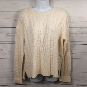 Ralph Lauren Cream Chunky Cable Knit Sweater